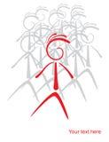 Gens de silhouette Image libre de droits