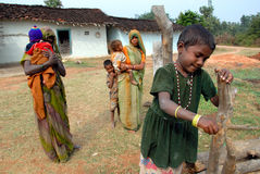 Gens de village de Khajuraho Images stock