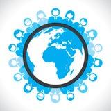 Gens du monde contactant le concept Images libres de droits