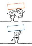 Gens et estampille blanc 4 de dessin animé illustration libre de droits