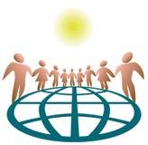 Gens globalement connectés Photo libre de droits