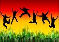 Gens heureux Images libres de droits