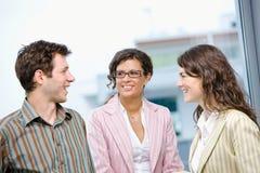 gens heureux d'affaires Image stock