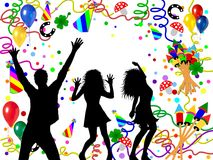 gens partying d'illustration Images stock