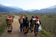 Gens rouges de minorité ethnique de Dao Photos libres de droits