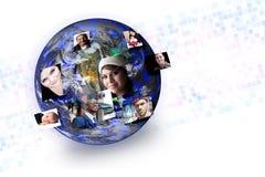 Gens sociaux de medias globaux Photo libre de droits
