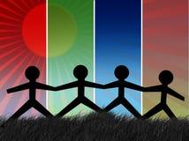 Gens unis Image libre de droits