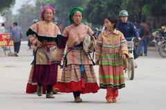 Gens Vietnam de Hmong de fleur Photographie stock libre de droits