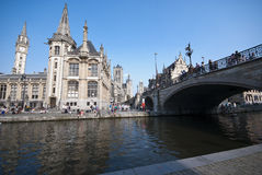 Gent canal Stock Photography