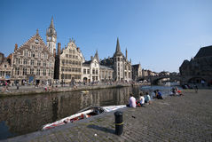 Gent canal Royalty Free Stock Image