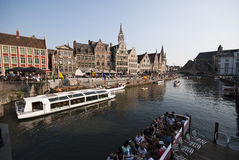 Gent canal Royalty Free Stock Photos