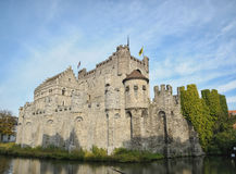 Gent. Medieval castle in Gent, Belgium Royalty Free Stock Images