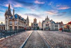 Gent, Belgien am Tag, alte Stadt des Herrn Stockfoto