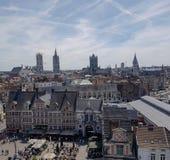 Gent Belgium. Panorama of Gent Belgium Stock Photography