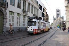 Gent, Belgium, tramway Stock Image