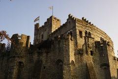 Gent castle. Beautiful old medieval castle in Ghent Belgium Stock Photos