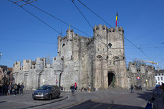Gent castle. A medieval castle in Gent, Belgium. It is not the type of castle you mostly see royalty free stock images