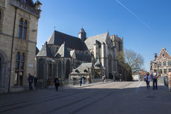 Gent Cathedral. The are a lot of cathedrals in Gent. This is the one I find the most unusual royalty free stock images