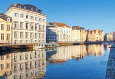 Gent. Central Embankment. Royalty Free Stock Image