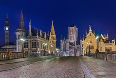 Gent cityscape - Belgium Royalty Free Stock Photos