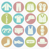 Gent clothes icons set stock illustration