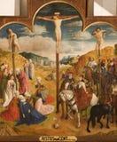 Gent - crucificação da capela de St. Baaf Fotos de Stock Royalty Free
