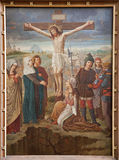 Gent - Crucifixion paint from st. Peter s church Royalty Free Stock Photo