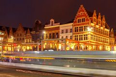 Gent. Downtown at Christmas. Royalty Free Stock Photos