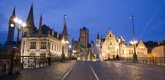 Gent - in evening Royalty Free Stock Photo