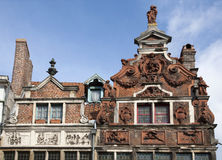 Gent - The facade of typical houses Royalty Free Stock Image