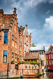 Gent, Flanders, Belgium - Leie River colorful houses Royalty Free Stock Images