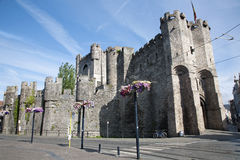 Gent - Gravensteen - old castle Stock Image