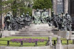Gent - Hubertus and Johannes van Eyck memorial Royalty Free Stock Image