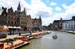 Gent i swój kanały Zdjęcie Royalty Free