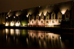 Gent By Night Stock Photography