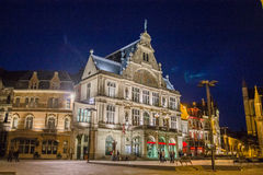 Gent Night Belgium Stock Images