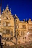 Gent Night Belgium Stock Images