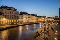 Gent Night Belgium Royalty Free Stock Photos