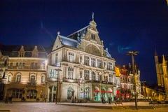 Gent noc Belgia Obrazy Stock