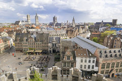 Gent, old town in Belgium Royalty Free Stock Photos