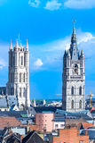 Gent, old town in Belgium Royalty Free Stock Image