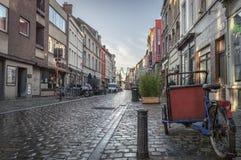 Gent, Oost-Vlaanderen/België - Januari 2017: Straten van oud Gent stock afbeelding