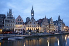Gent - Palaces in evening from Kore Stock Photos