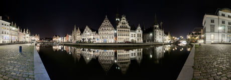 Gent panorama Obrazy Stock