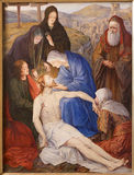 Gent - Pieta. Paint in st. Peter s church Royalty Free Stock Photos