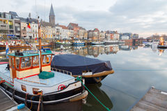 Gent. River Leie Stock Photo