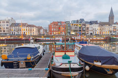Gent. River Leie Royalty Free Stock Photo