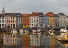 Gent. River Leie. Stock Images