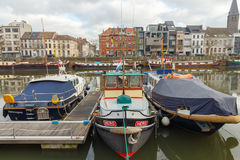Gent. River Leie. Royalty Free Stock Images