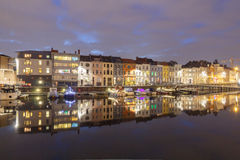 Gent. River Leie. Royalty Free Stock Photo